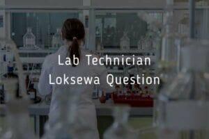 Lab Technician Loksewa Question 2020